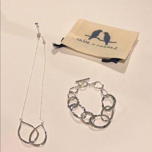 Chloe + Isabel Silver Necklace and Bracelet